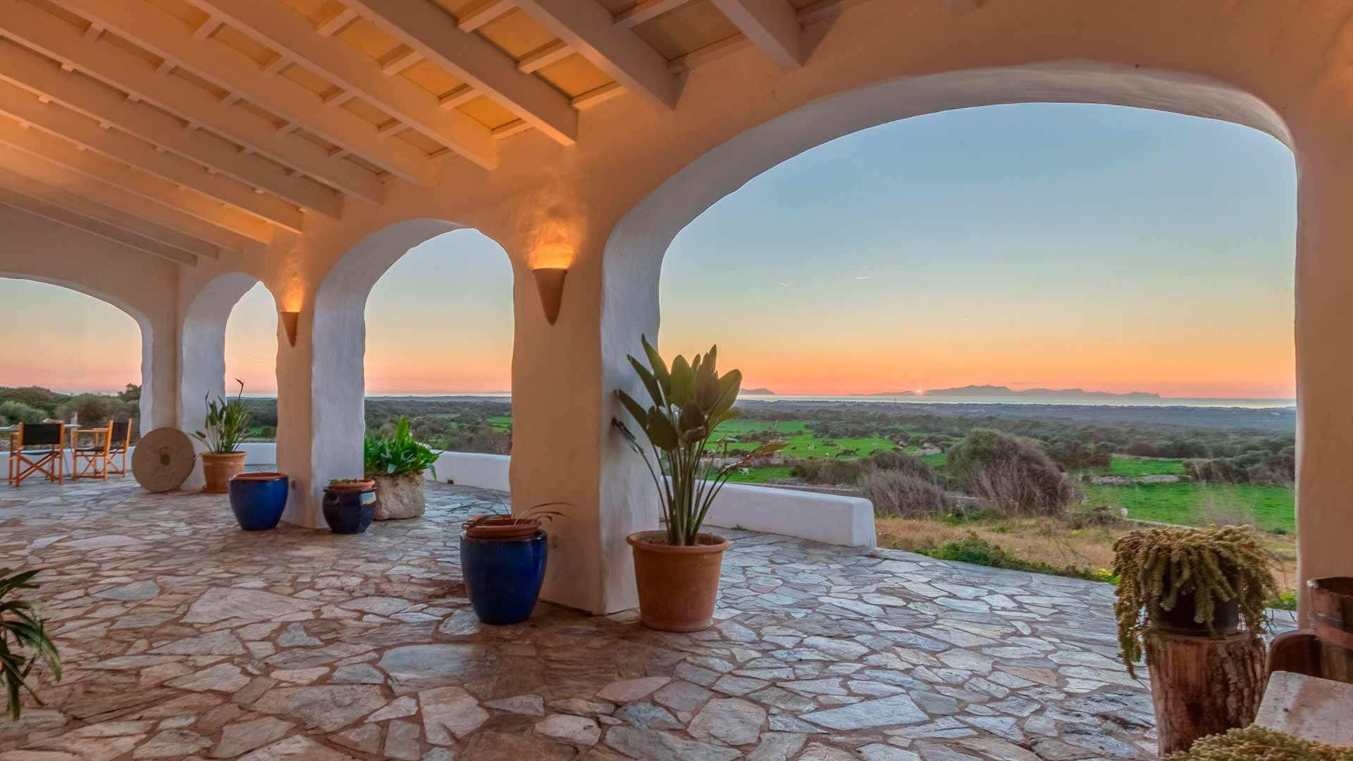 The property with the most sublime sunset