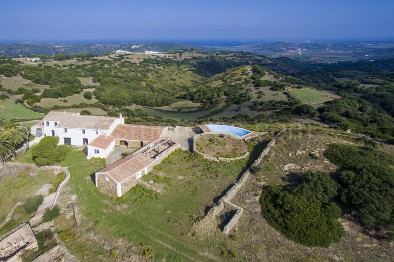 Country Estate in Menorca with views to the countryside and the sea